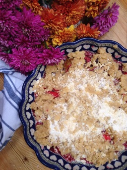 Foraged Apple and Blackberry Crumble